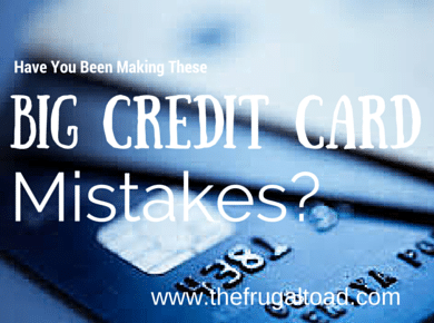 credit card mistake
