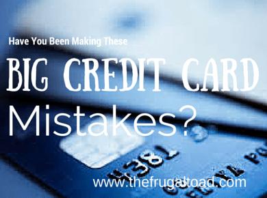 credit card mistake