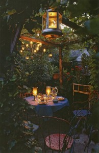 romantic date ideas backyard dining