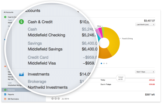 Quicken 2015 for Mac all accounts