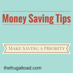Make Saving a Priority