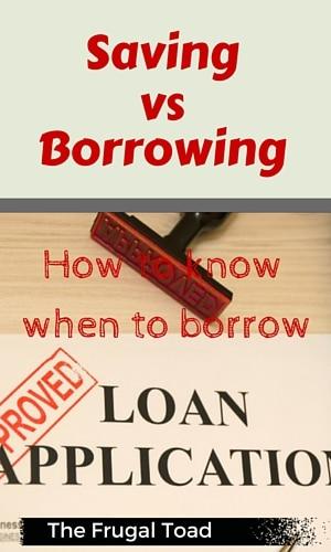 saving vs borrowing