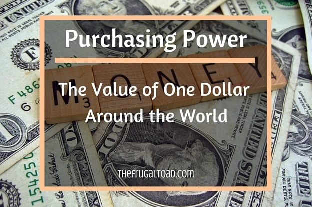 value of one dollar