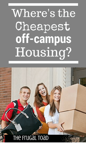 cheapest off-campus housing